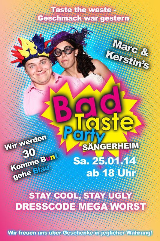 Einladung Bad Taste Party U2013 Dressbuying, Einladungs
