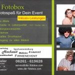 Flyer zur Fotobox - 2013